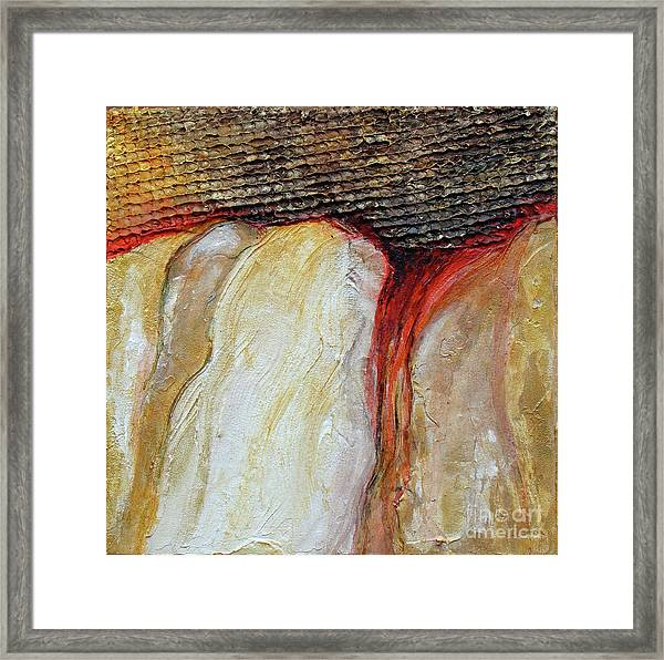 Stucco Canyon Framed Print