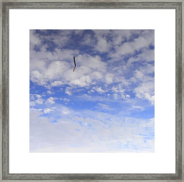Stuck In The Clouds Framed Print