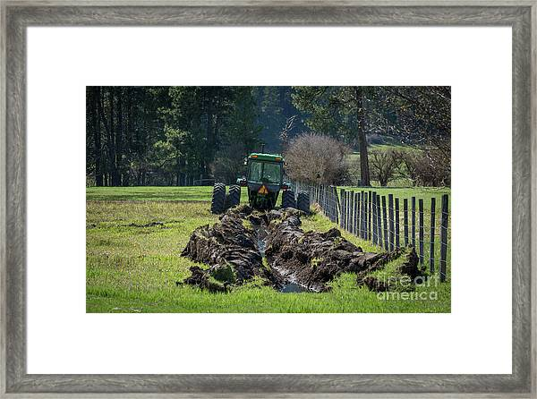 Stuck In The Muck Agriculture Art By Kaylyn Franks Framed Print