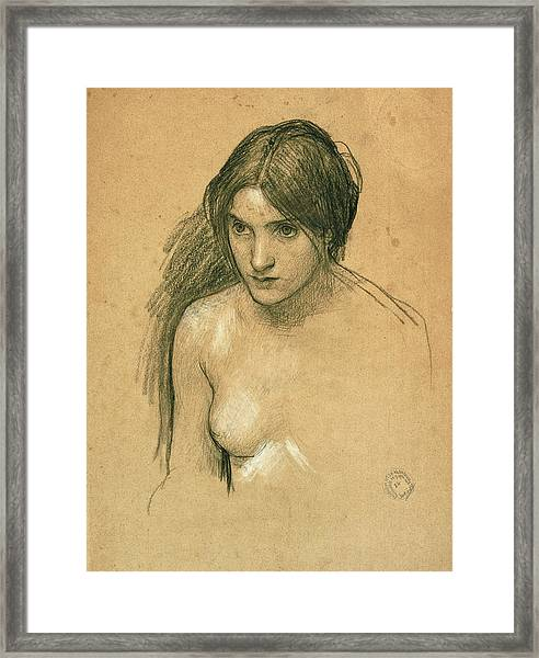 Study For A Nymph In Hylas And The Nymphs Framed Print