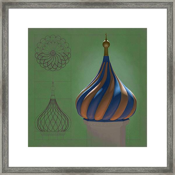 Study For An Onion Dome Framed Print