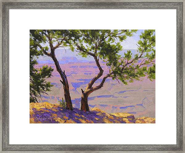 Study For Canyon Portal Framed Print
