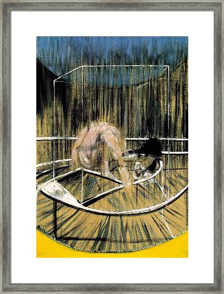 Study For Crouching Nude Framed Print