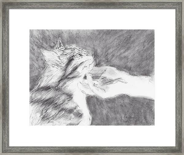 Framed Print featuring the drawing Study For Sweet Spot by Kathryn Riley Parker