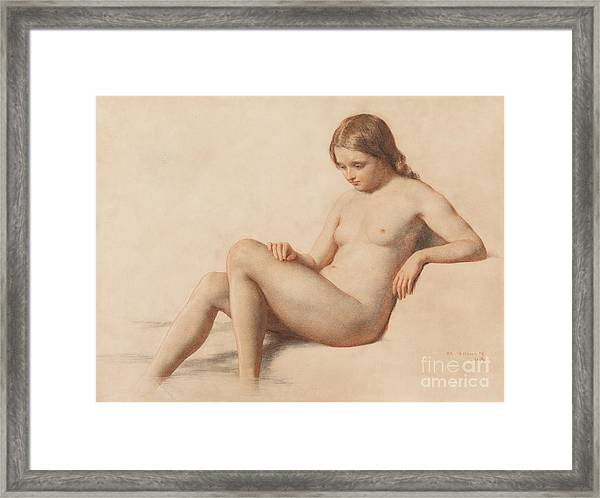 Study Of A Nude Framed Print