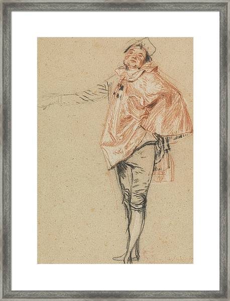 Study Of A Standing Dancer With An Outstretched Arm Framed Print
