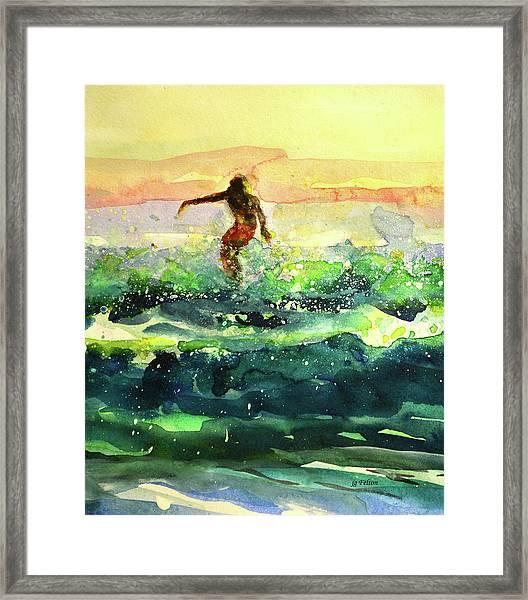 Study Of A Surfer 1 Framed Print