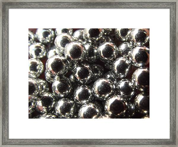 Study Of Bb's, An Abstract. Framed Print