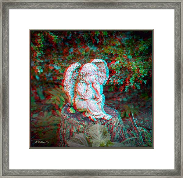 Stumped - Use Red-cyan 3d Glasses Framed Print