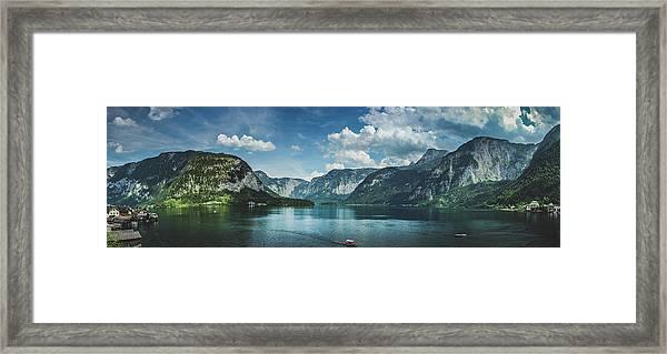 Stunning Lake Hallstatt Panorama Framed Print