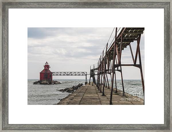 Sturgeon Bay Ship Canal North Pierhead Lighthouse 1 Framed Print
