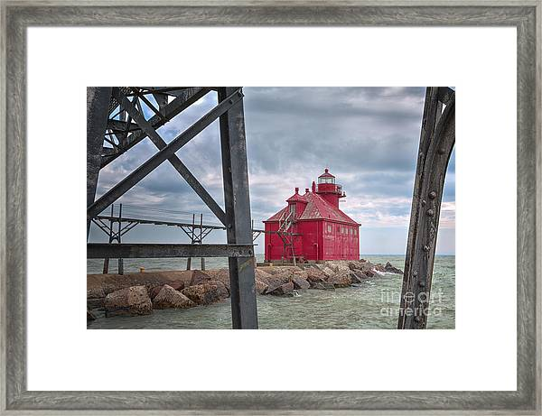 Sturgeon Bay Ship Canal North Pierhead Lighthouse 2 Framed Print