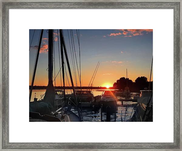 Sturgeon Bay Sunset Framed Print