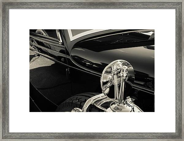 Framed Print featuring the photograph Stutz Mirror by Samuel M Purvis III