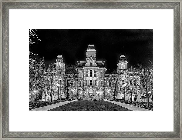 Su Hall Of Languages Framed Print