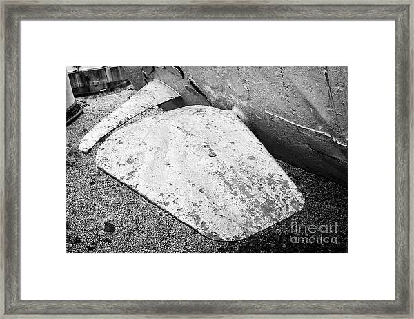 submarine bow plane on u-534 at u-boat story Liverpool Merseyside UK Framed Print