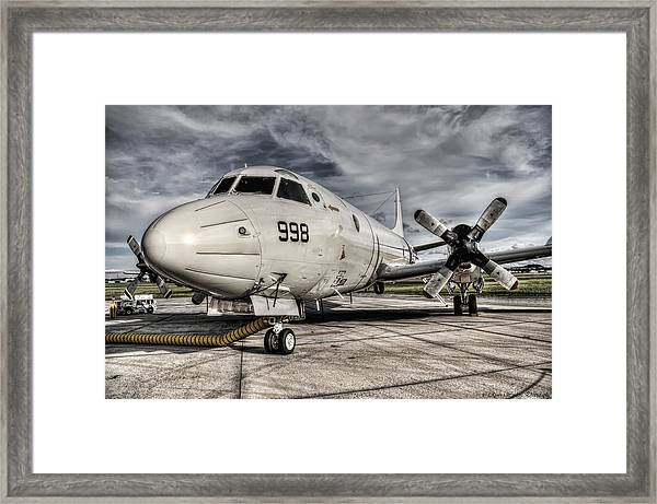 Submarine Hunter Framed Print