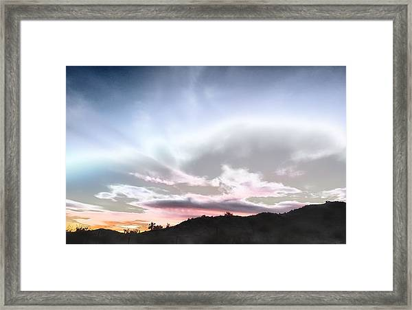 Submarine In The Sky Framed Print