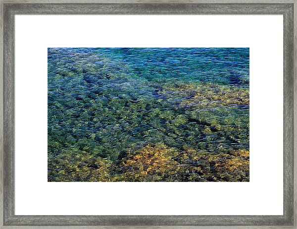 Submerged Rocks At Lake Superior Framed Print