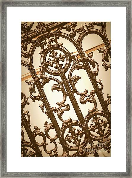 Subtle Southern Charm In Sepia Framed Print