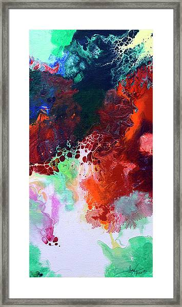Subtle Vibrations, Canvas Five Of Five Framed Print