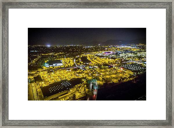 Suburbia At Night Temecula California Framed Print