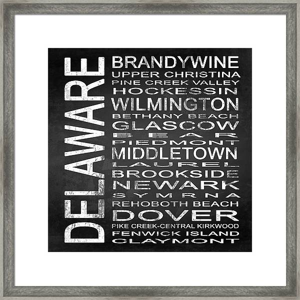 Subway Delaware State Square Framed Print