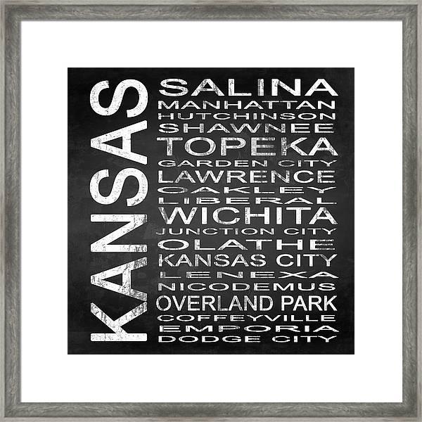 Subway Kansas State Square Framed Print