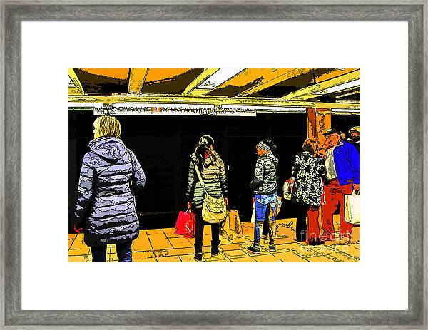 Subway Platform Framed Print by Gino Inocentes