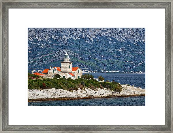 Sucuraj Lighthouse - Croatia Framed Print