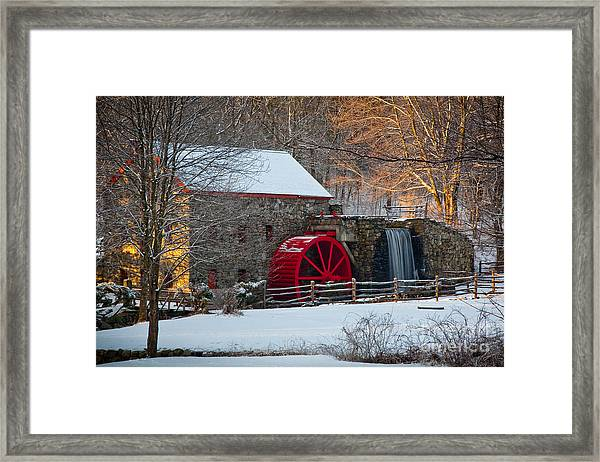 Framed Print featuring the photograph Sudbury Gristmill by Susan Cole Kelly