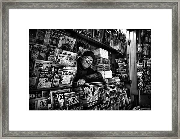 Sudoku Corner... Framed Print