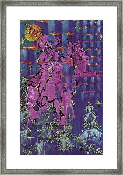 Sueno De Zapata Framed Print