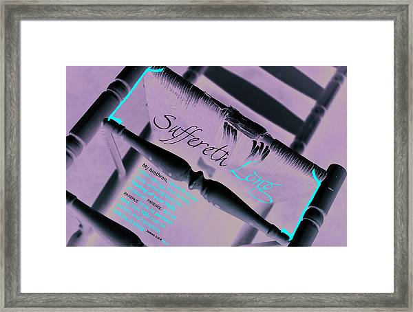 Suffereth Long Framed Print by Affini Woodley