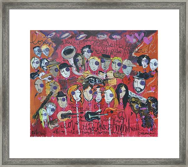 Framed Print featuring the painting Sug At Red Rocks Amphitheater 2010 by Laurie Maves ART