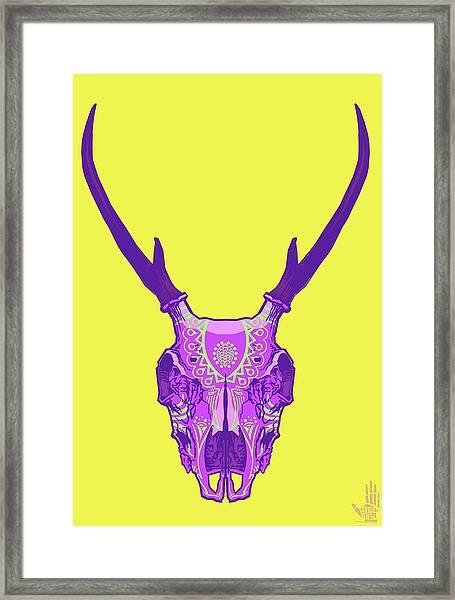 Sugar Deer Framed Print