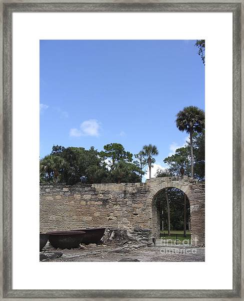 Sugar Mill Doorway Framed Print
