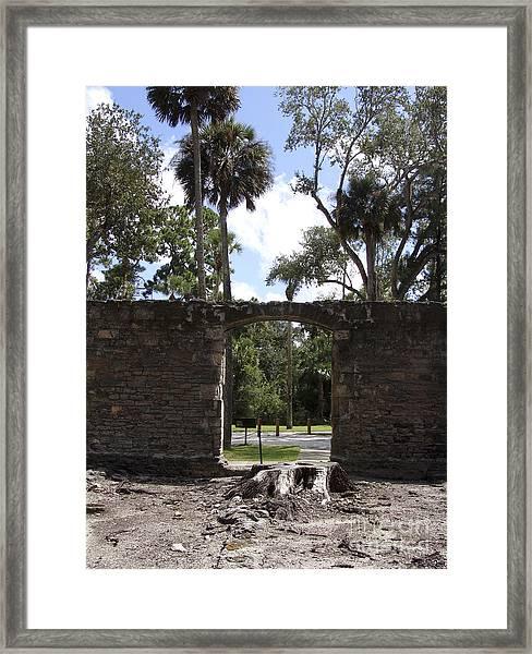 Sugar Mill Enter Leave Framed Print