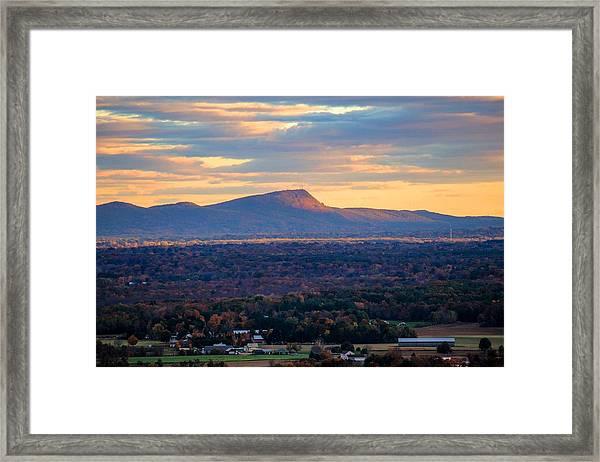 Sugarloaf View, South Deerfield, Ma Framed Print