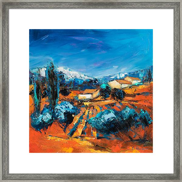 Framed Print featuring the painting Sulla Collina by Elise Palmigiani