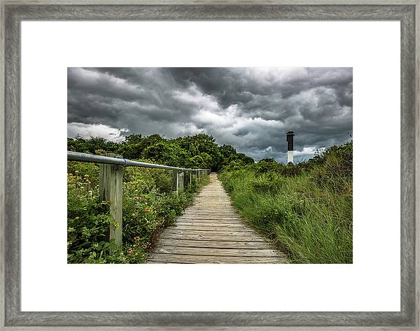 Sullivan's Island Summer Storm Clouds Framed Print