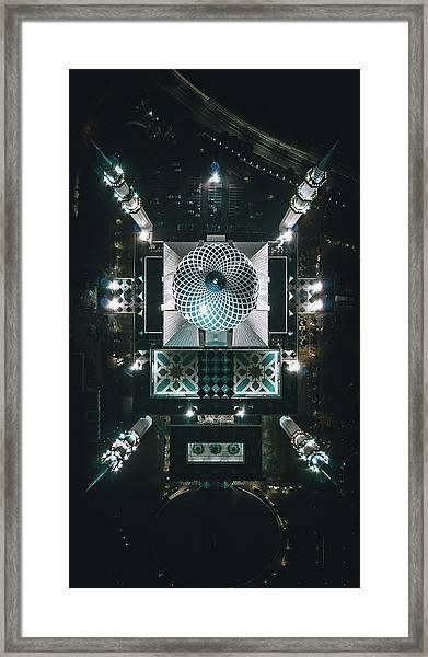 Framed Print featuring the photograph Sultan Mosque by Izuddin Helmi Adnan