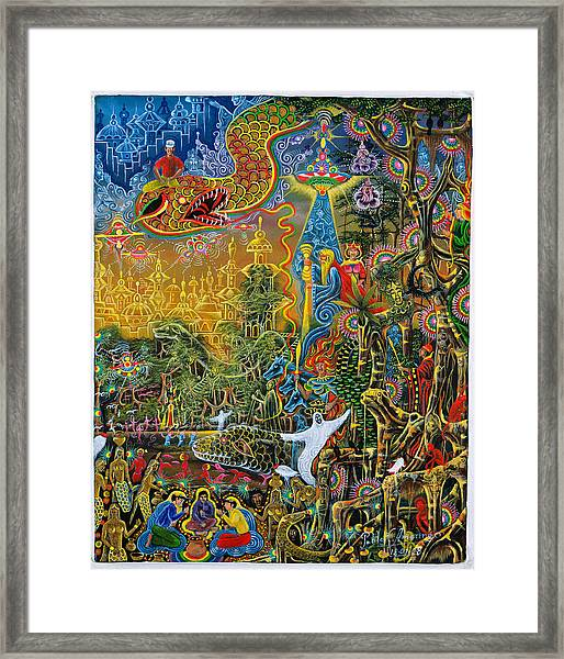 Framed Print featuring the painting Sumac Icaro by Pablo Amaringo
