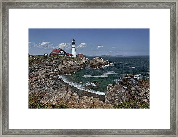 Summer Afternoon, Portland Headlight Framed Print