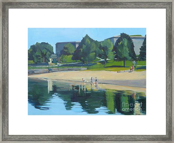 Summer At Castle Island Framed Print