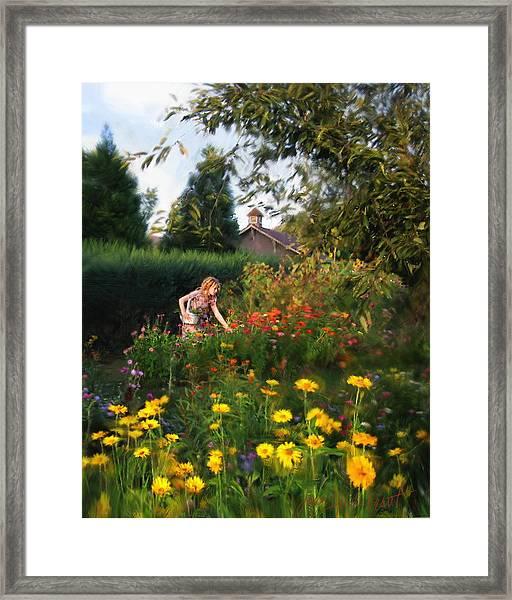 Summer Bouquet Framed Print