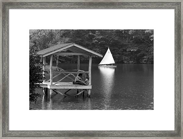 Summer Camp Black And White 1 Framed Print