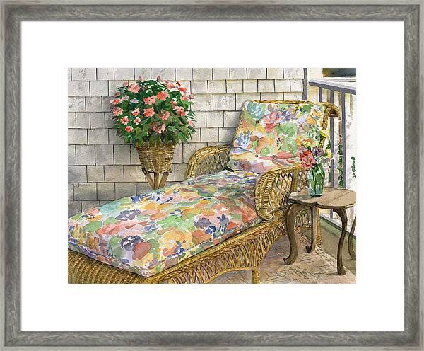 Summer Chaise Framed Print