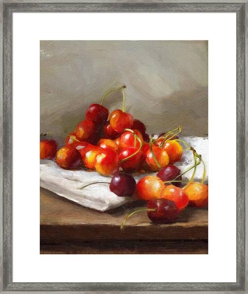 Summer Cherries Framed Print