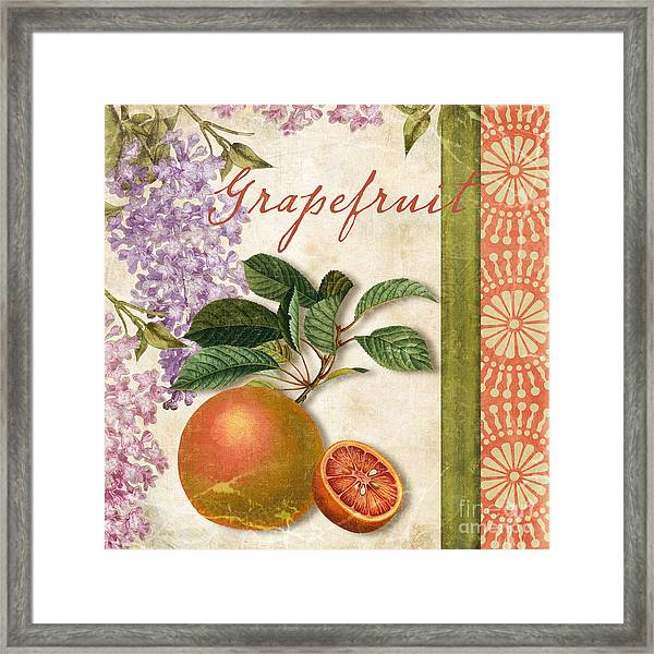 Summer Citrus Grapefruit Framed Print